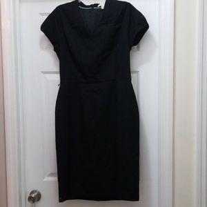 Banana Republic black short sleeve sheath dress